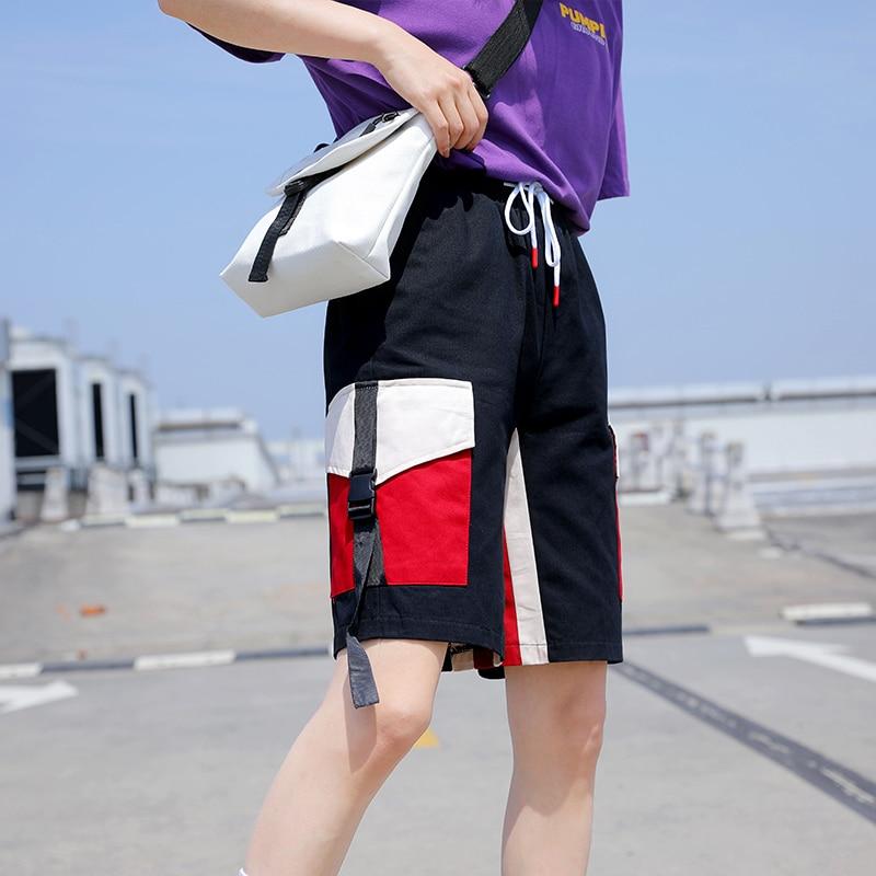 Ynncnik Summer Half Length Cargo   Pants   For Women Drawstring Waist Blue Black Loose Short   Pants     Capris   Plus Size Trousers P1020