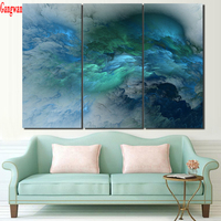 3 pcs Diamond Embroidery large Cloud Abstract Colorful 5D DIY Diamond Painting Full Square Round drills Mosaic Wall decoration