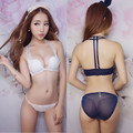 Fashion Sexy Lace Buckle Summer W Cup Back To Gather The Girl Hanging Neck Bra Underwear Suits On Behalf Of