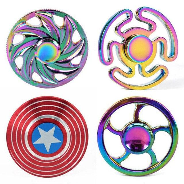 Top Finger Spinner Fid Toy Rainbow Metal Bearing Cool fi