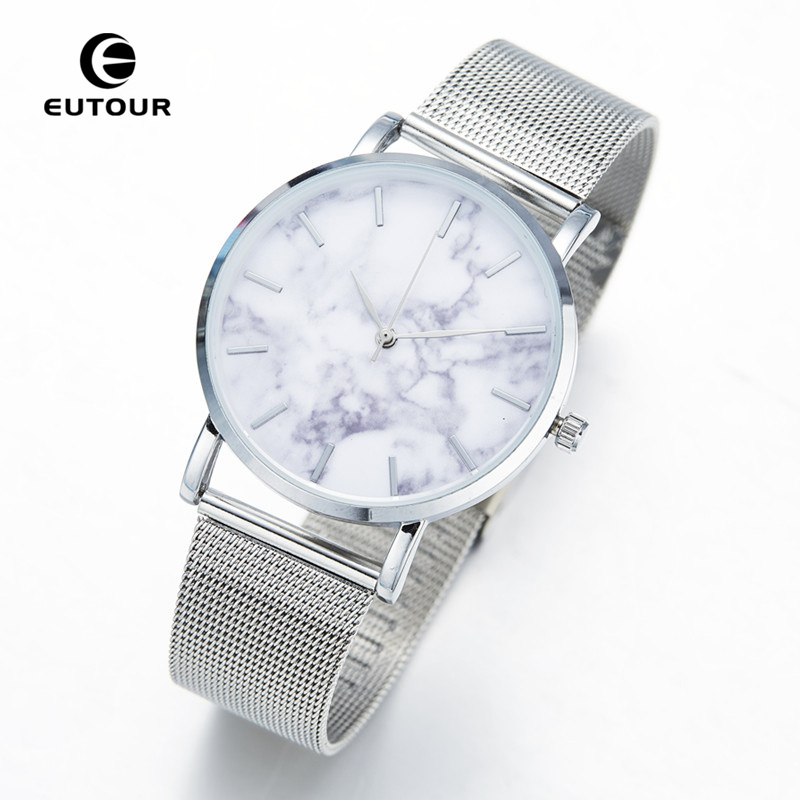 Eutour Watch Fashion Ladies Rose Gold Marble Watches Women Bracelet Quartz Watch Dress Simple Bangle Wristwatch relogio feminino high quality rose gold silicone watch women ladies men fashion dress quartz wristwatch relogio feminino gv008