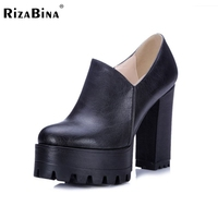 Women Square High Heel Shoes Spring Female Water Proof Fashion Brand Quality Style Pumps Heels Shoes