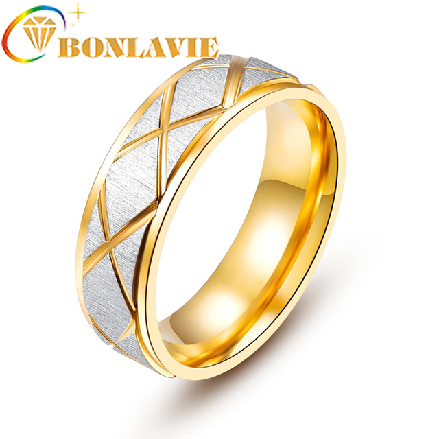 Male Wedding Bands.Us 1 38 23 Off Fashion Silver Matte Pattern Gold Color Stainless Steel Men S Ring 2018 New Male Wedding Bands Ring Jewelry In Engagement Rings From