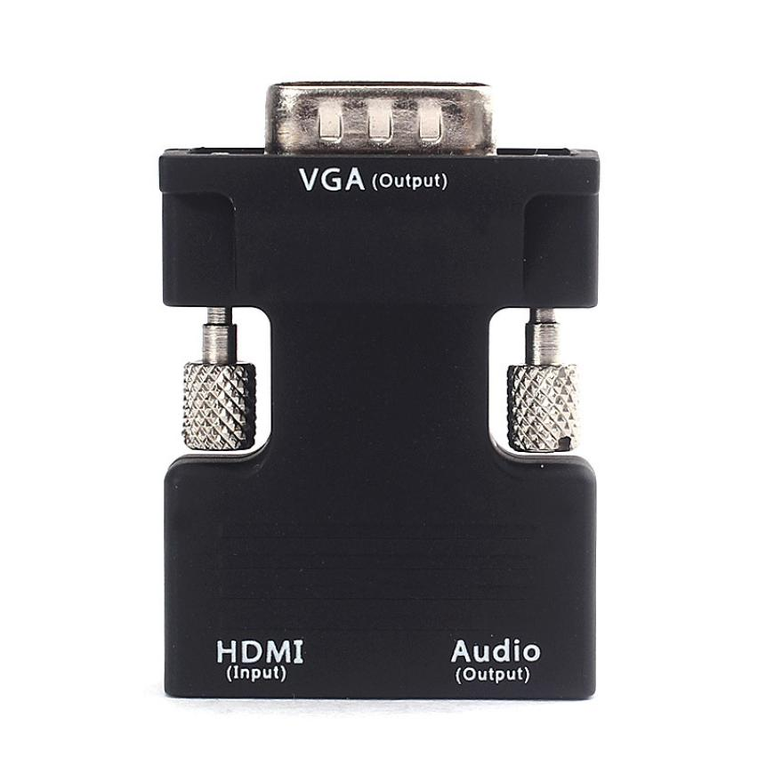HDMI Female To VGA Male Converter With Audio Adapter 1080P Signal Output Cable Adapters Installer Connector Aug11
