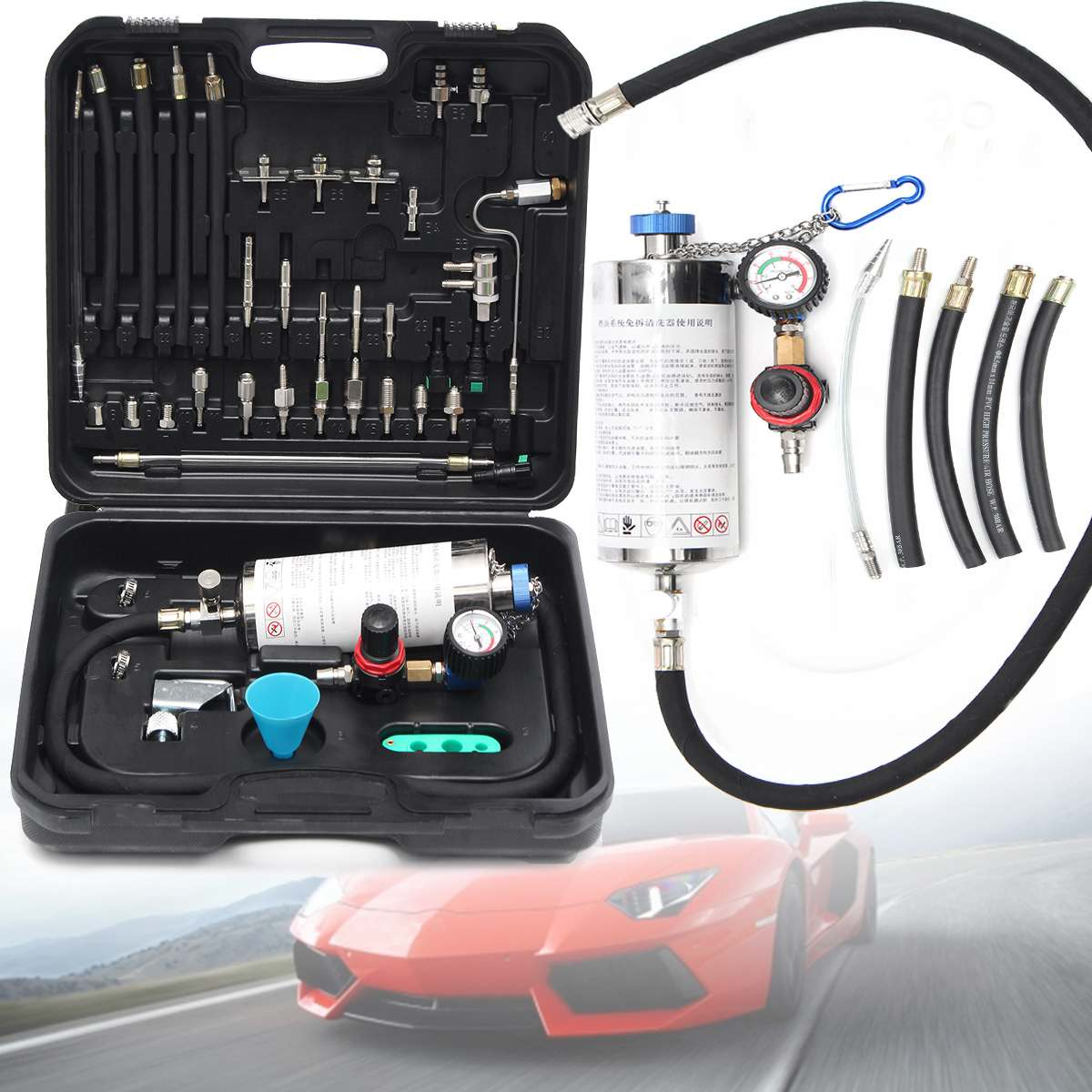 Universal Automotive Non-Dismantle Fuel System Cleaner Auto gasonline Injector Clean tool For Petrol Cars image