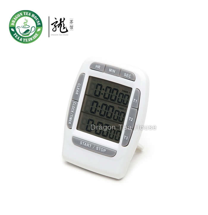 Digital Three Independent Memory Clock Timer & Stopwatch with Three Line Display