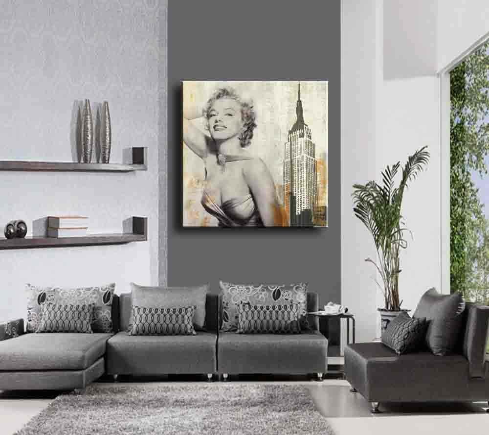 1 قطعة جدار اللوحة الحديثة مارلين مونرو الرئيسية الديكور الفن صورة زيت على قماش ، قماش اللوحة ، جدار صورة والرسم