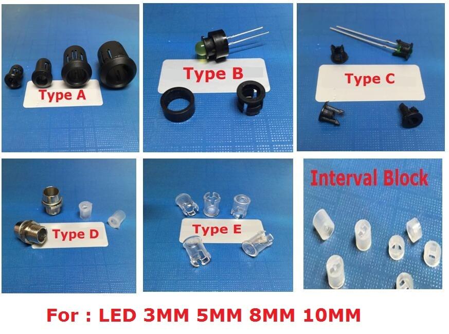 FREE SHIPPING 50 x 5mm Bezel LED Panel Mounting Clip