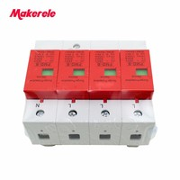 SPD 4P 60KA~100KA ~420VAC AC House Surge Protector Protective Low voltage Arrester Device Din Rail