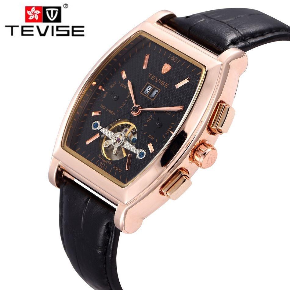 ФОТО Original Tevise Fashion Men's Day/Week/Month Auto Mechanical Watches Wristwatch Gift Box Free Ship