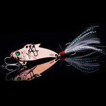 WALK FISH 1PCS 4.5cm 10g VIB Lures Metal Fishing Lure Vibration Hard Bait with Treble Hook Fishing Tackle