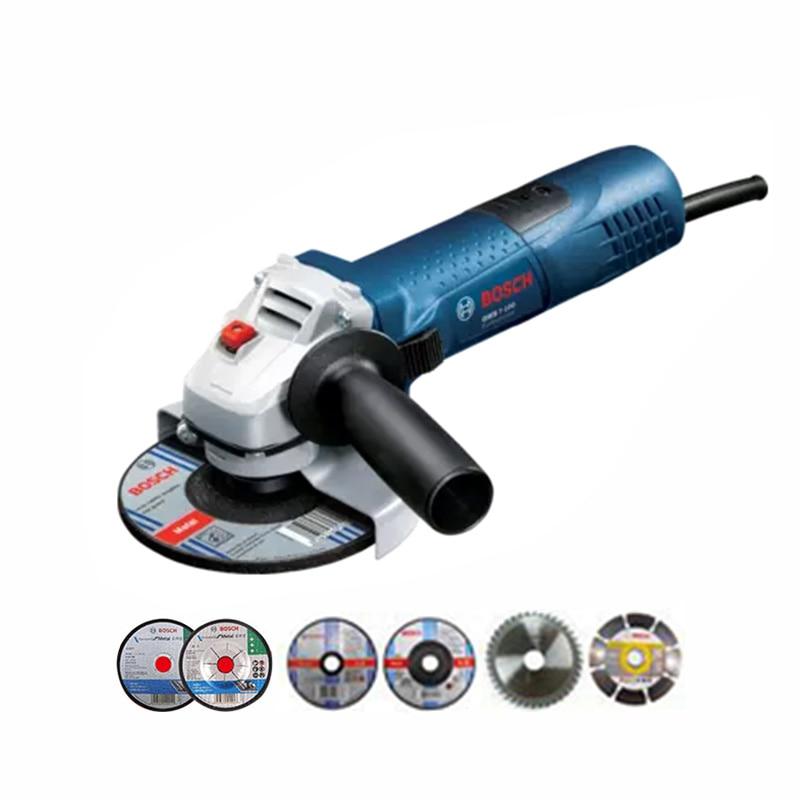 GWS750 100 Angle Grinder 220V Cutting Polishing Machine Hand Wheel Electric Concrete Metal Polisher 100mm grinding GWS7100/100ET