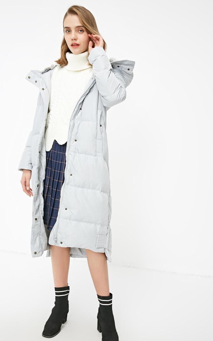 Vero Moda new detachable rabbit fur hooded long down jacket women | 318312503 21