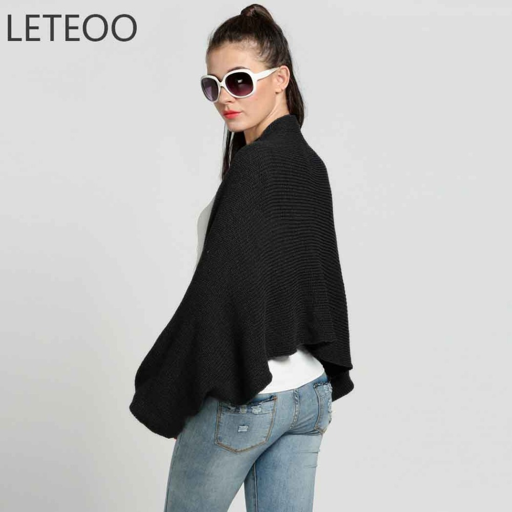Leteoo cashmere shrugs for women cardigan fall 2017 fashion leteoo cashmere shrugs for women cardigan fall 2017 fashion knitted sweater open stitch long sleeve poncho ladies sweaters jdb30 in shrugs from womens bankloansurffo Choice Image