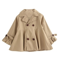 Baby Girls Coat Autumn Tops Kids Jacket Clothes Outerwear Long Sleeve Solid Coats Children Clothing
