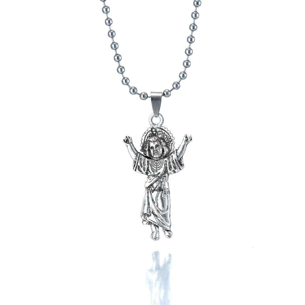 BABY JESUS silver Children Necklaces Virgin Mary And Jesus Bible Pendants Necklace Women Christmas gifts for freeshipping
