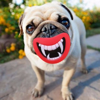 New Safe Durable Pet Dog Giggle Treat Training Chewing Devil's Lip Sound Activity Toy Squeaky Chew Play Toys for Dog Toys