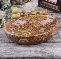 Creative Porcelain Drake and Ducklings Fruits Plate Decorative Ceramics Organizer Tray Ornament Gift Craft Accessories Supplies