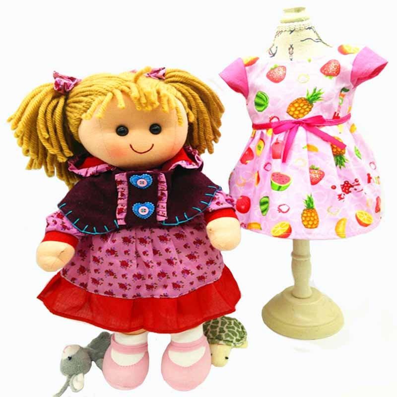 Promotion 15 pouce Haute Qualité doux bébé chiffon poupée jouet pour enfants filles enfants cadeau de poupée de Noël lavable