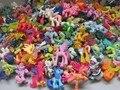 5 pçs/set (entrega aleatória diferente do cavalo) pouco Ação pvc Figuras de Brinquedo cavalo Unicórnio boneca cavalo para miúdos bonitos-