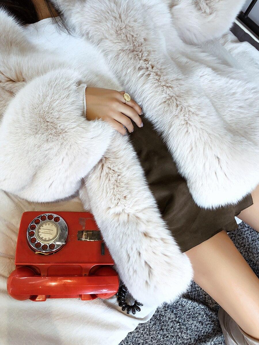 Npi De Réel Fourrure Épais Pleine Vêtements Hiver As Chaud Moelleux Blanc Manteau Femme En Femmes Naturel Renard Cuir Finlande Pic 81220d TTwnr5x