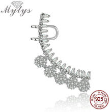 Mytys 925 Sterling Silver One Ear Earrings Cuff Jewelry Fashion Clip Earring Women Creative Arete Regalo Accessory CE396(China)