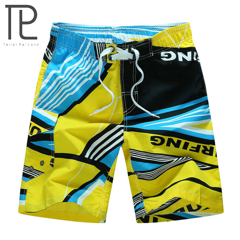 2018 Hot New Summer   Board     Shorts   Men's Quick Dry Surfing Boardshorts With Pocket Plus Size Quick Dry Beach   Shorts   M-6XL 3 Colors