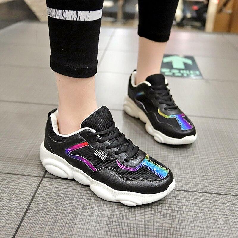 Offre spéciale baskets de haute qualité femmes chaussures de course en plein air Sport chaussures de marche plate-forme d'amortissement respirant Filas Bear chaussures