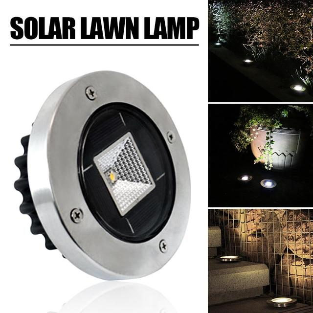 LAIDEYI Outdoor Solar Panel Lawn Lamp LED Spotlight Solar Powered Underground Light Landscape Garden Yard Path Lawn Lamps