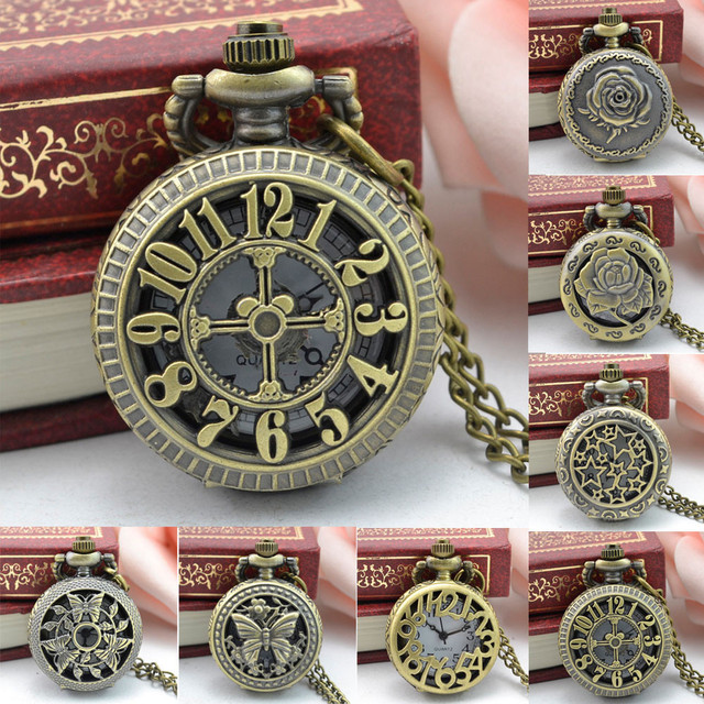 Vintage Punk Classic relogio de bolso Steampunk watch Retro Bronze Design Pocket