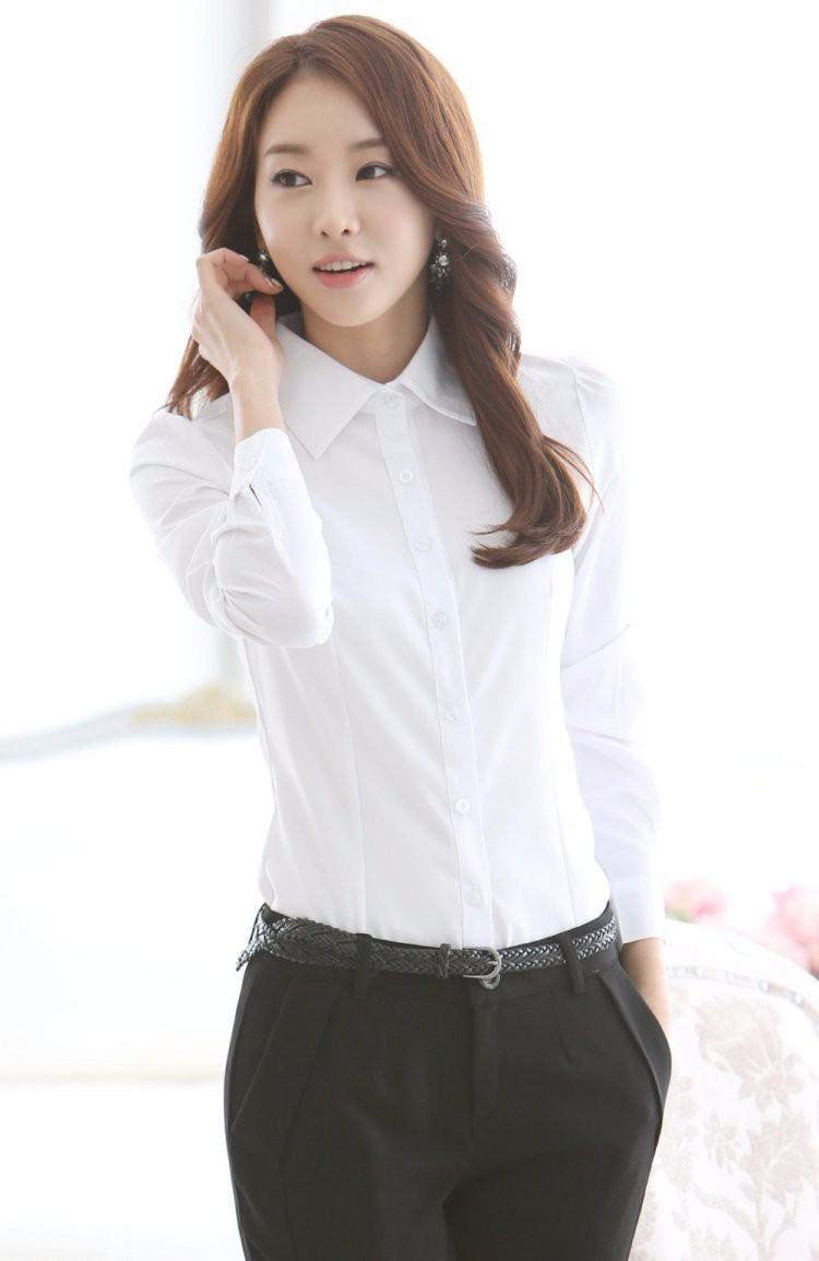 HTB1gRkrLXXXXXaVXVXXq6xXFXXXe - Casual Blouse Long Sleeve Femininas Ladies Work Wear Tops Shirt