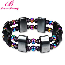 Lover Beauty Colorful and black Magnet stone magnetic bracelet Weight Loss Health care Man therapy Bracelet -E