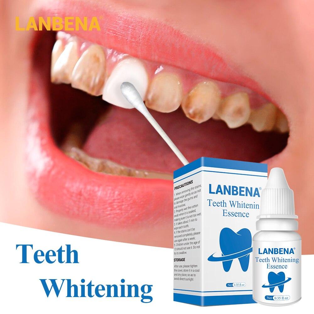 Lanbena Zähne Bleaching Essenz Pulver Oral Hygiene Reinigung Serum Entfernt Plaque Flecken Zahn Bleichen Dental Werkzeuge Zahnpasta Hautpflege