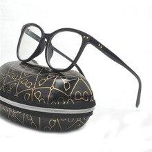 47892fbe6c6 2018 Myopia Retro Eyeglass Women Male Frame Glasses Metal Rivets Frame  Round Face Art Flat Mirror