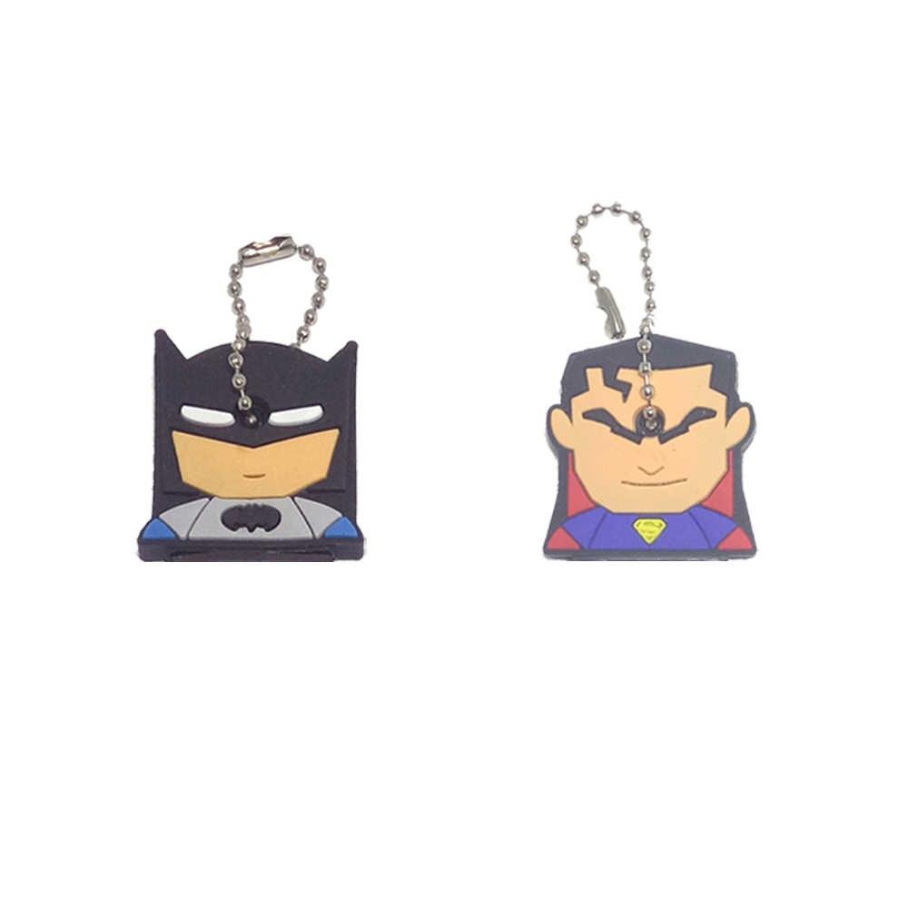 2 шт. держатель для ключей кольцо милый Аниме Минни брелок мультяшный брелок для ключей Бэтмен медведь брелок с героями стежка Кепка задержка женская сумка