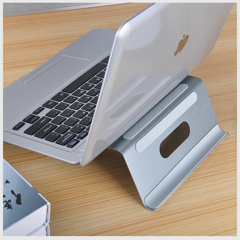 Dvojitý hliníkový stojan na notebook Nastavitelný držák na - Školní a vzdělávací materiály - Fotografie 4