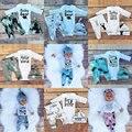 Primeiro Aniversário do natal Roupas Para Bebê Menino Menina Set Roupas Boutique New Born Chapéu + Bodysuit + Calça de Renas 3 PCS Terno Terno de Trilha 0-3 T