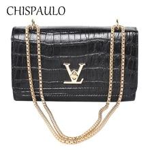 3c8c527c33 women fake designer bags V Chain bag Ladies Handbags high quality shoulder  bag Alligator women messenger