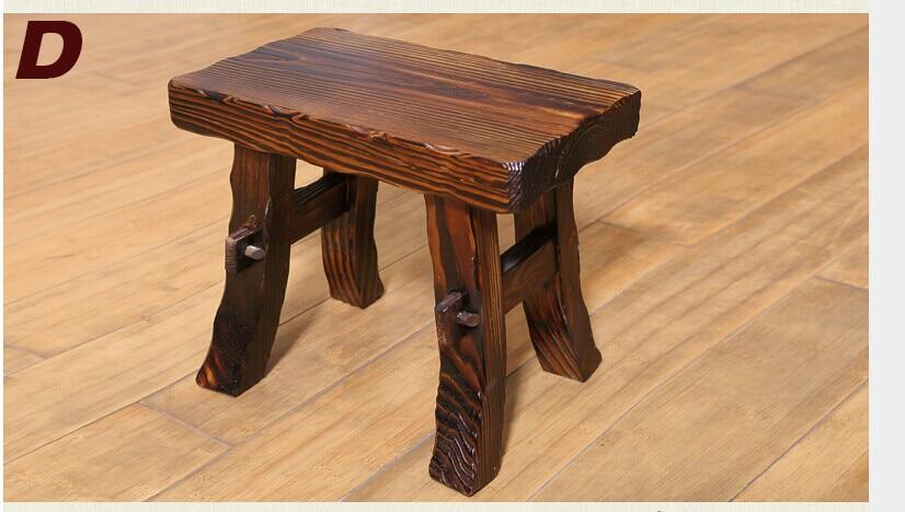 Sgabello di legno mobili in legno in stile giardino sgabello