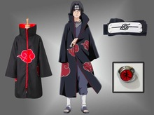 Ninja Unisex NARUTO with band ring Akatsuki Uchiha Itachi Anime Cosplay Costume party clothing Cloak