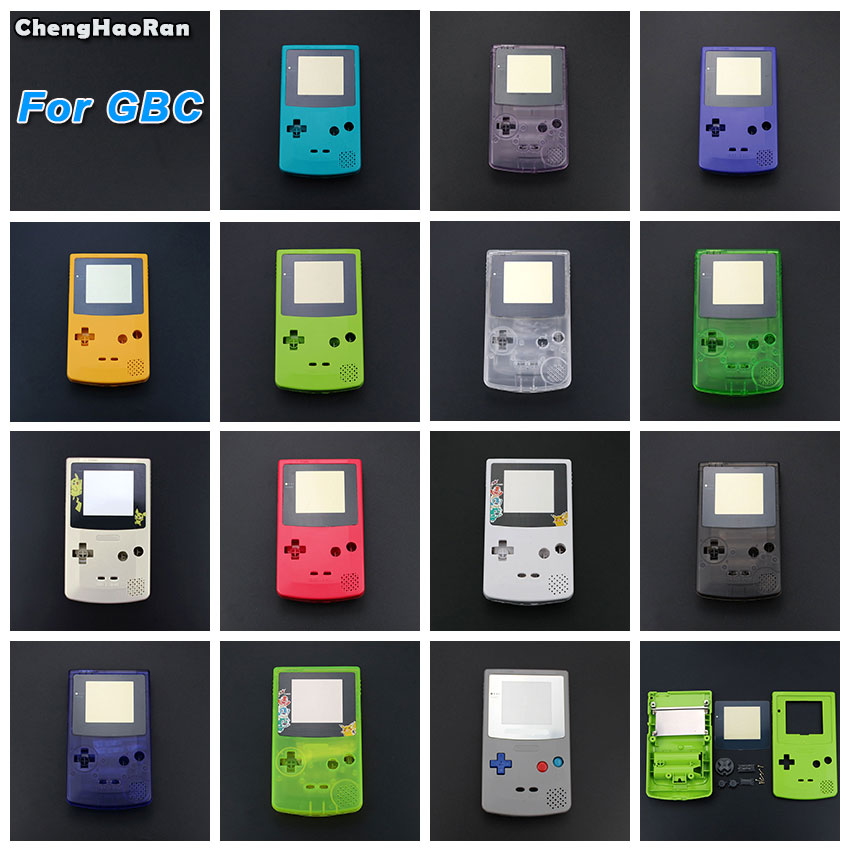 ChengHaoRan For GBC New Full Housing Shell Cover for Nintendo GameBoy Color Repair Part Housing Shell Pack with Buttons Screw in Cases from Consumer Electronics