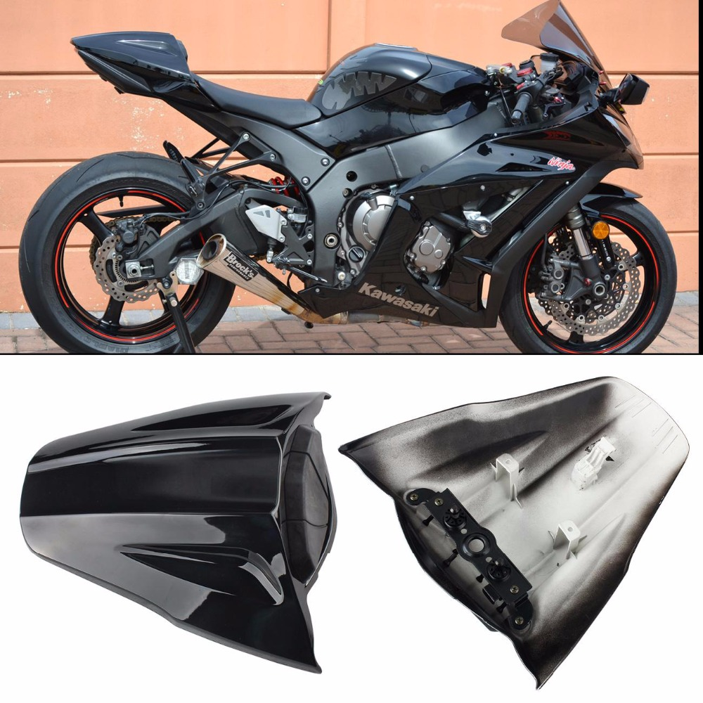 цены Motorcycle Rear Seat Cover Cowl Fairing For Kawasaki ZX10R ZX 10R ZX-10R 2011 2012 2013 2014 2015 Carbon Black Seat Cover Case