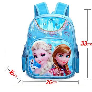 Hot girls cartoon princess Elsa Anna schoolbag kids lovely printed backpacks children's fashion quality student bags