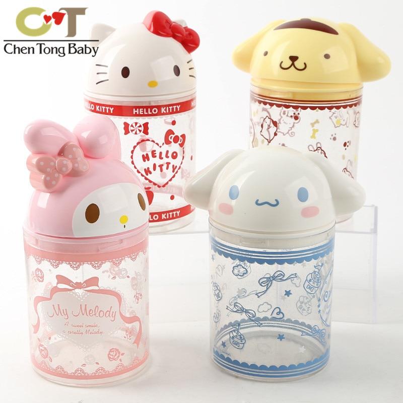43% Dog Melody Hello Kitty Plastic Ornaments  Children Toys Drawer Type 19CM Cotton Swab Storage Box WJ01