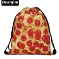 Deanfun новый 2017 эсколар рюкзак 3D печать путешествия softback мужчина женщины mochila feminina drawstring сумка рюкзак для пиццы