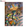 HUACAN DIY 5D Животных Алмазная Мозаика Ручной Работы Детские Подарок На День Рождения Алмазный Вышивка Крестом Красочные Шаблоны Cat Горный Хрусталь
