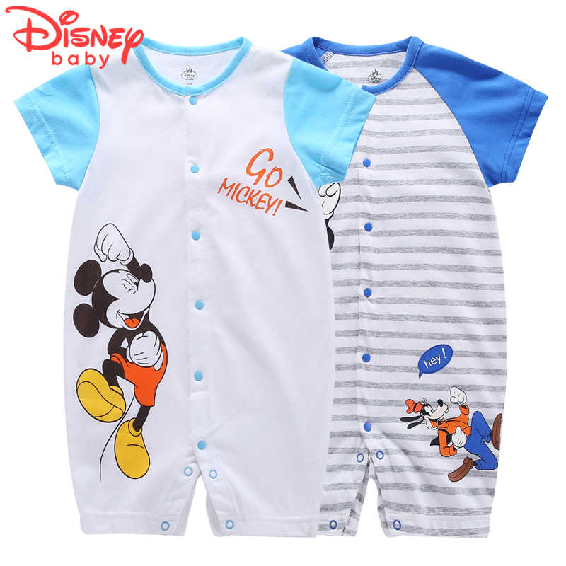 351a6d1bd220e Disney Cotton Baby Cloth Summer Jumpsuits Baby Rompers for 0-3 years old  infant Mickey
