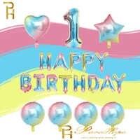 40 ''gradiente Arcobaleno Numero Palloncini Star Del Cuore di Amore Cifre Palloncini Baby Shower Compleanno Ballon Festa di Compleanno Decorazioni Bambini