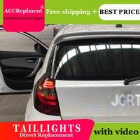 2 шт. Автомобиль Стайлинг для BMW E87 задние фонари 2004 2011 для E87 светодиодный задний фонарь + поворотник + тормоза + обратный светодиодный свет