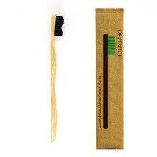 Черный цвет 30 шт помахать стиль ручка бамбуковая зубная щетка дерево Новинка бамбук мягкая щетина Capitellum нейлоновое волокно деревянная ручка